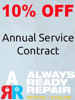 Annual Service Contract Discount Coupon from Always Ready Repair Heating and Cooling