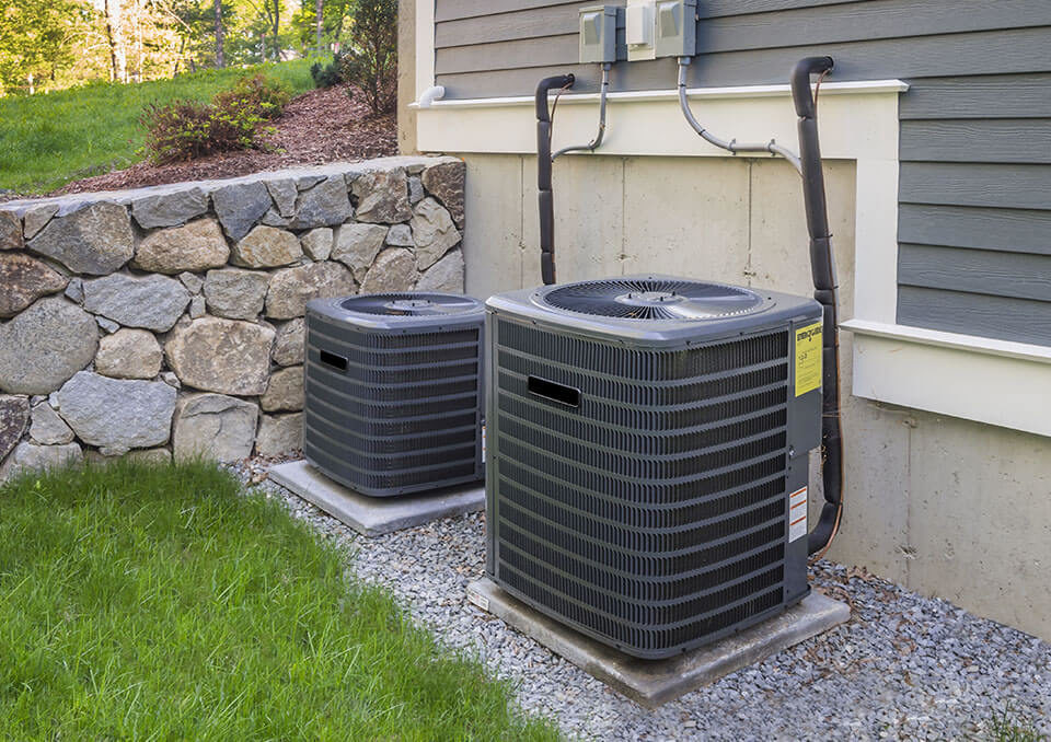 Professionally installed HVAC outdoor unit in a suburban home in Palos Park, IL