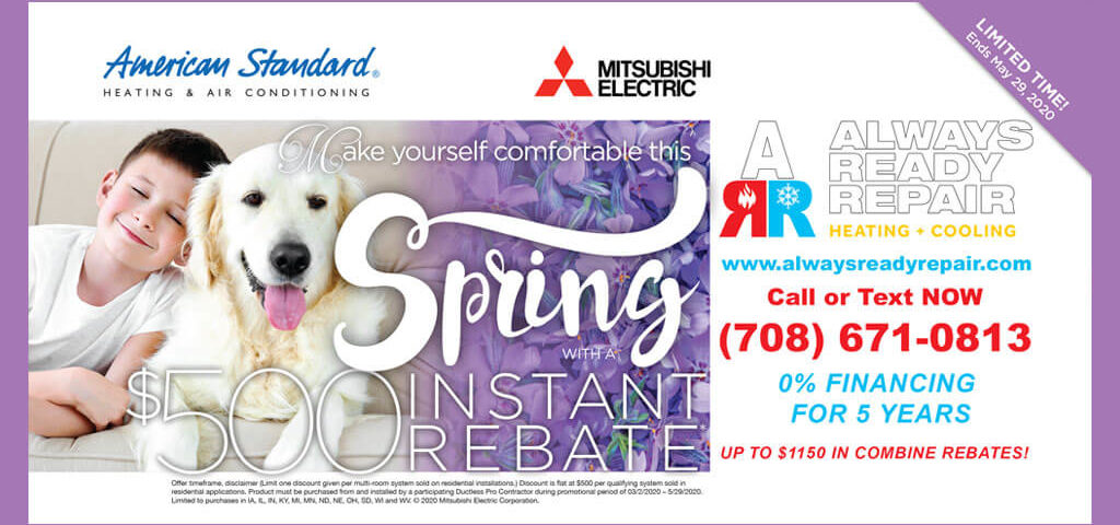 AC discount coupon by Always Ready Repair, Palos Park, IL